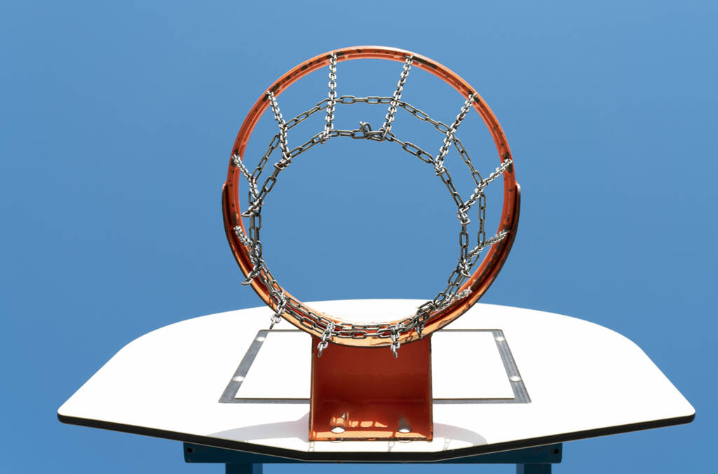 Basketball Basket Blue Sky Background
