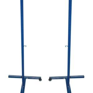 Juego postes bádminton trasladables sin contrapesos