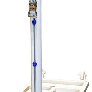 Juego postes bádminton trasladables aluminio