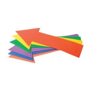 Flechas de caucho rectas