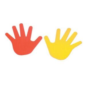 Marcas forma manos
