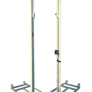 Juego postes voleibol trasladables aluminio 90 mm