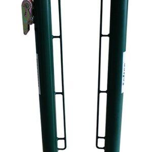 Juego postes metálicos padel Ø 80 mm fijos