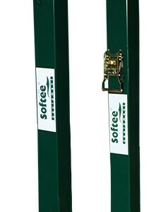 Juego postes tenis fijos cuadrados 80×80 mm